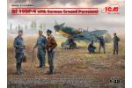Bf 109F-4 w/Ground Personnel 1/48