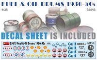 Fuel & Oil Drums 1930-50s 1/35