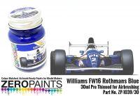 Rothmanns Blue Williams Renault FW16 30ml